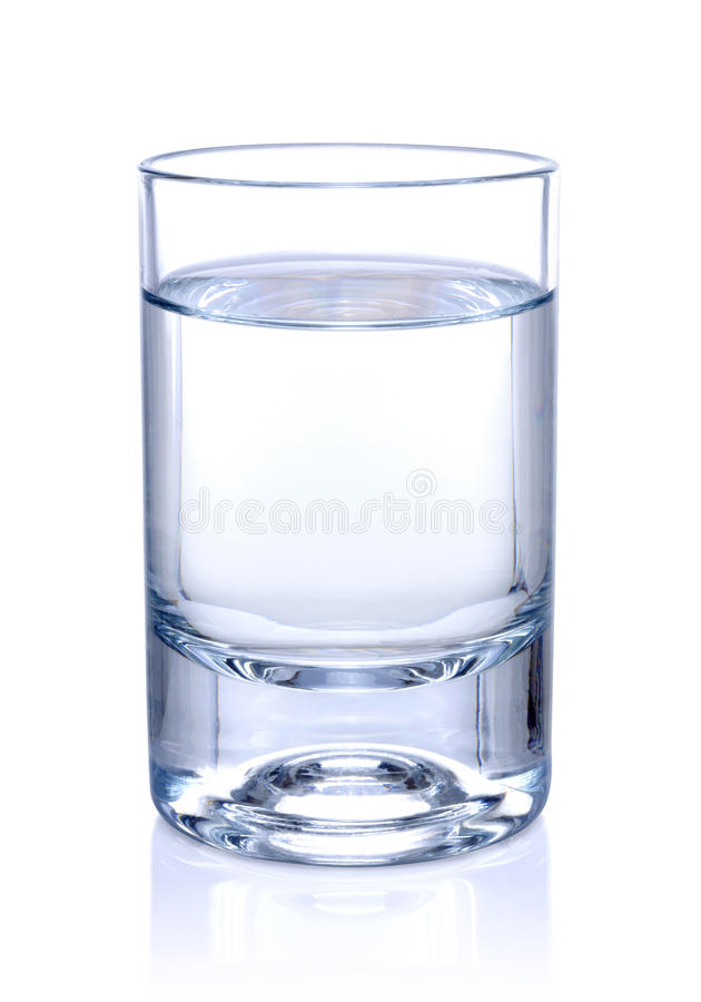 Glass of water stock photos