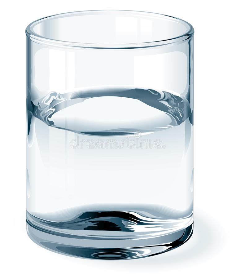 Glass of water stock illustration