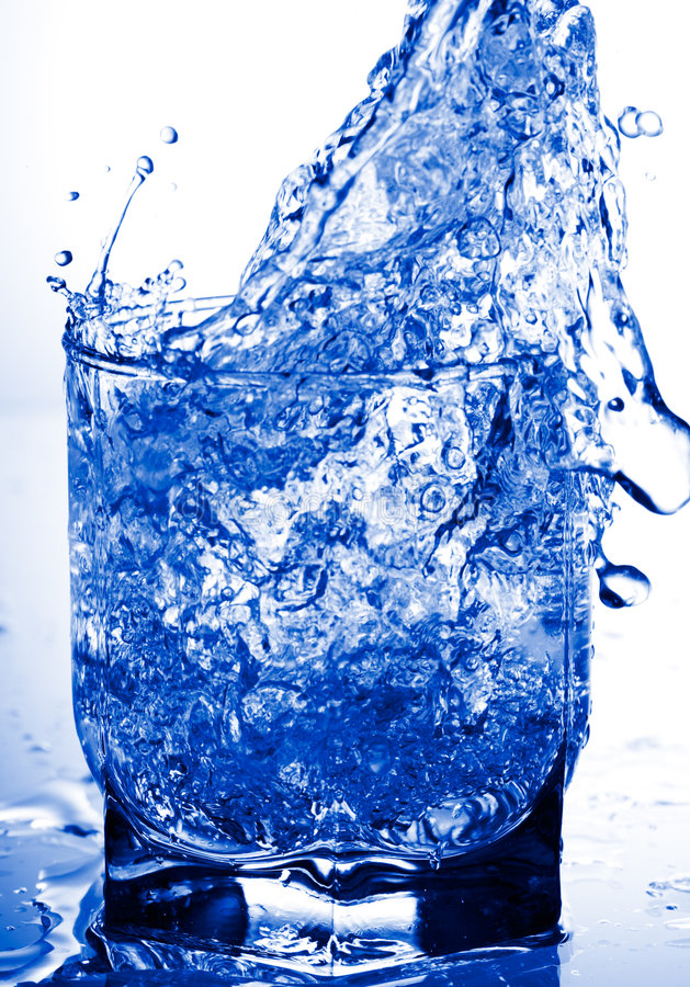 Glass and water refreshing stock images