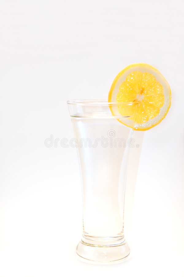 Download Glass Of Water With A Slice Of Lemon Stock Image - Image: 5619205