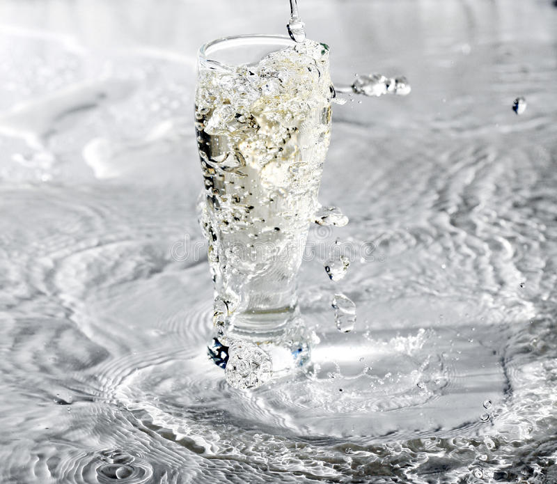 Download Glass Of Water on white stock image. Image of pure, abstract - 18050875