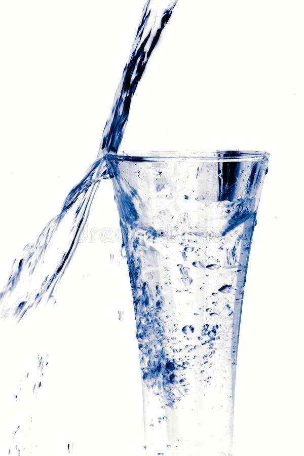 Download Glass of water on white stock photo. Image of smooth - 19513284