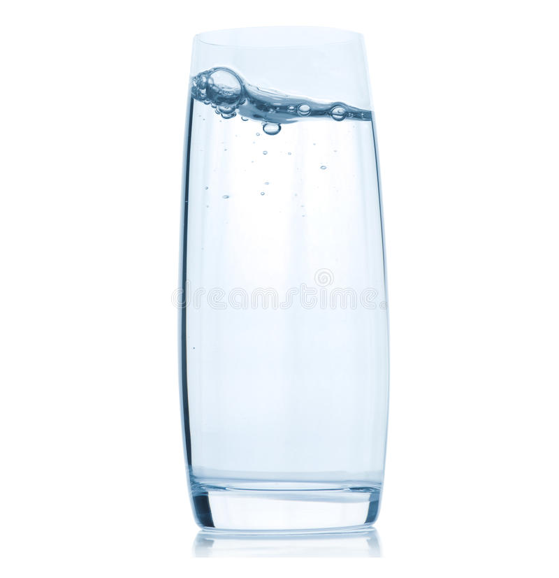 Download Glass With Water On White Background Stock Photo - Image of ecological, ecology: 26354066