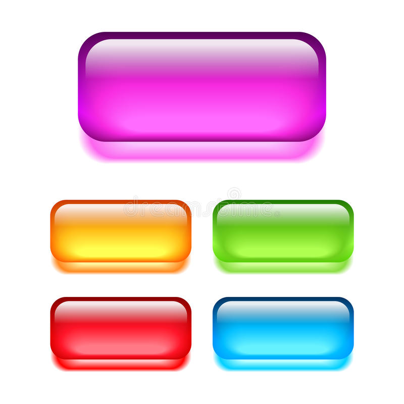 Glass web buttons royalty free illustration