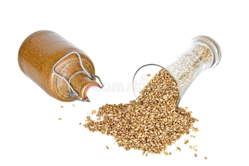 Download Glass With Wheat Grains And A Jar Stock Image - Image: 26553195