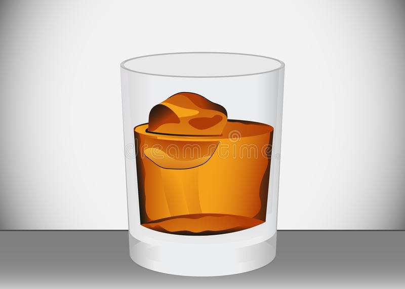 Download Glass of whiskey stock vector. Illustration of facer - 18656896