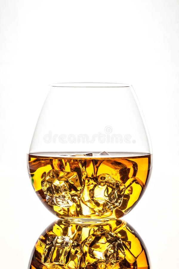 Download Glass of Whiskey stock image. Image of brandy, background - 26397509