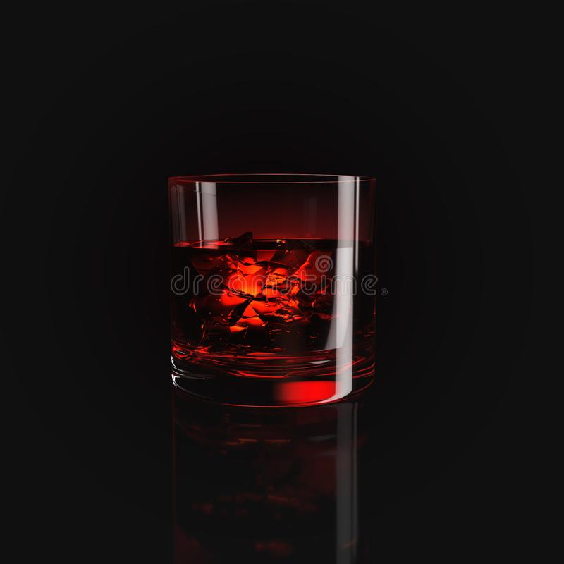 Glass with whiskey stock images