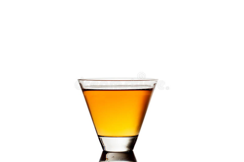 Glass of whiskey isolated on white background stock photos