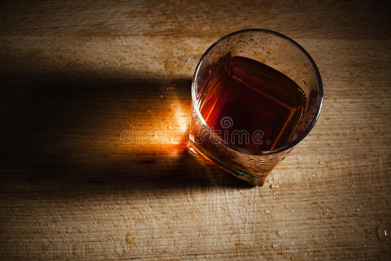 Glass from whisky royalty free stock photo