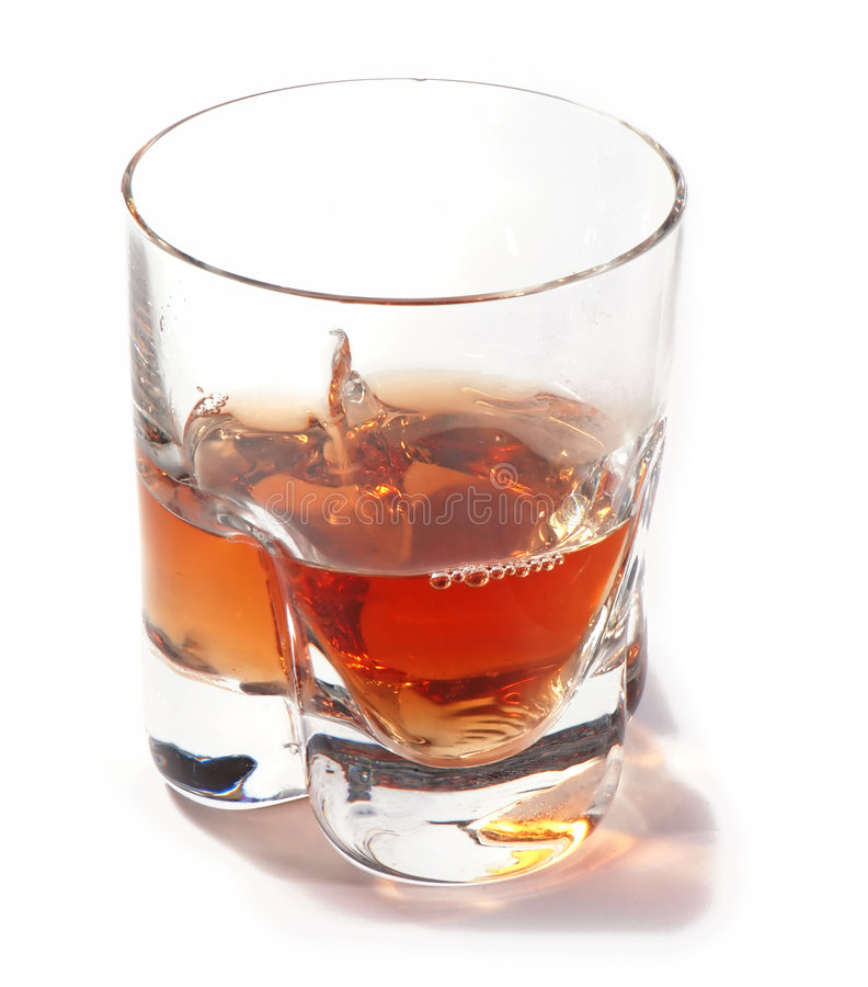 A glass of whisky royalty free stock photo