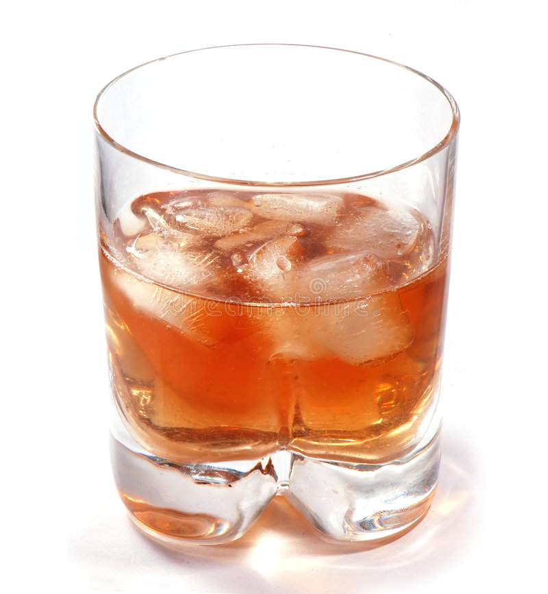 A glass of whisky royalty free stock photography