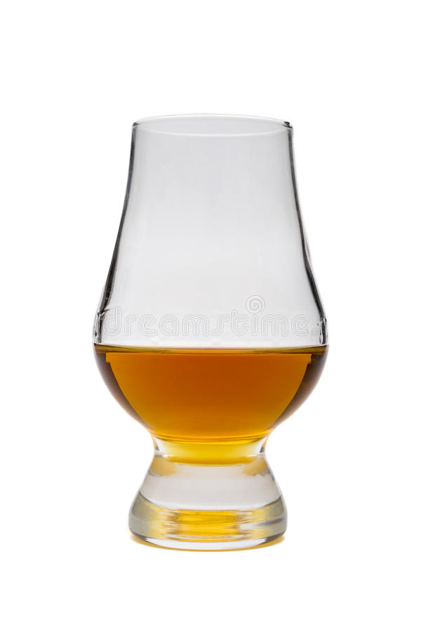 Glass of whisky bourbon, rum royalty free stock photos