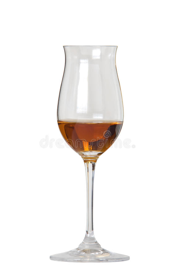 Glass of whisky/cognac royalty free stock photos