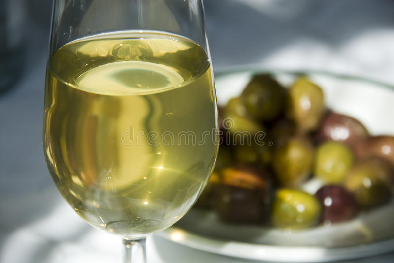 A glass of white royalty free stock photography