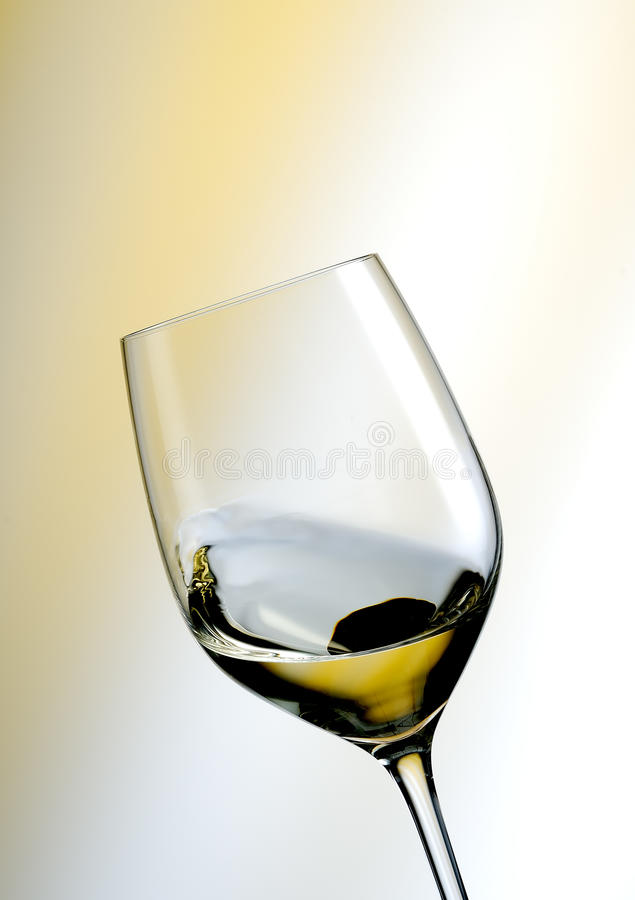 Glass of white wine royalty free stock photos