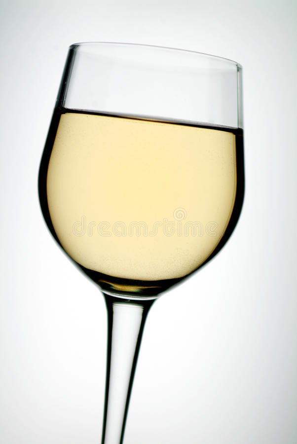 Glass on white wine royalty free stock photos