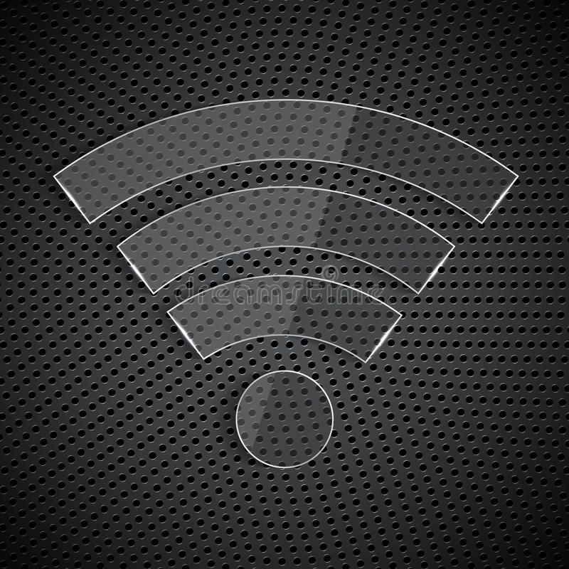 Glass wi-fi symbol royalty free illustration