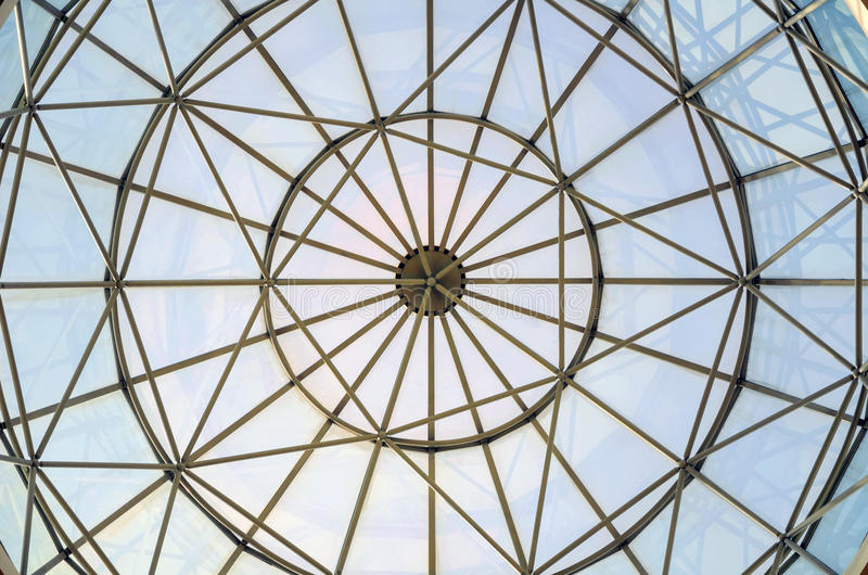 Glass window dome. A steel glass window dome stock images