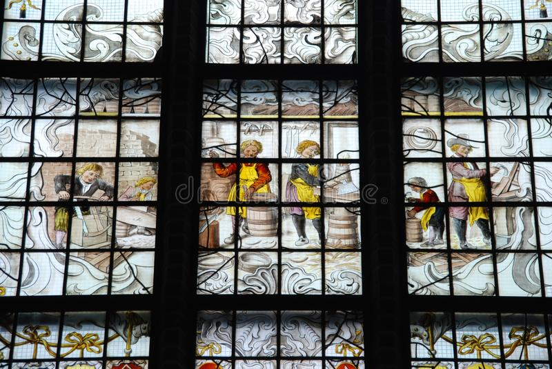 Glass, Window, Stained Glass, Building royalty free stock photos