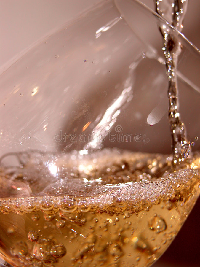 Glass and wine stock image