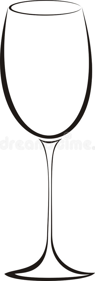 glass wine stock illustrationer