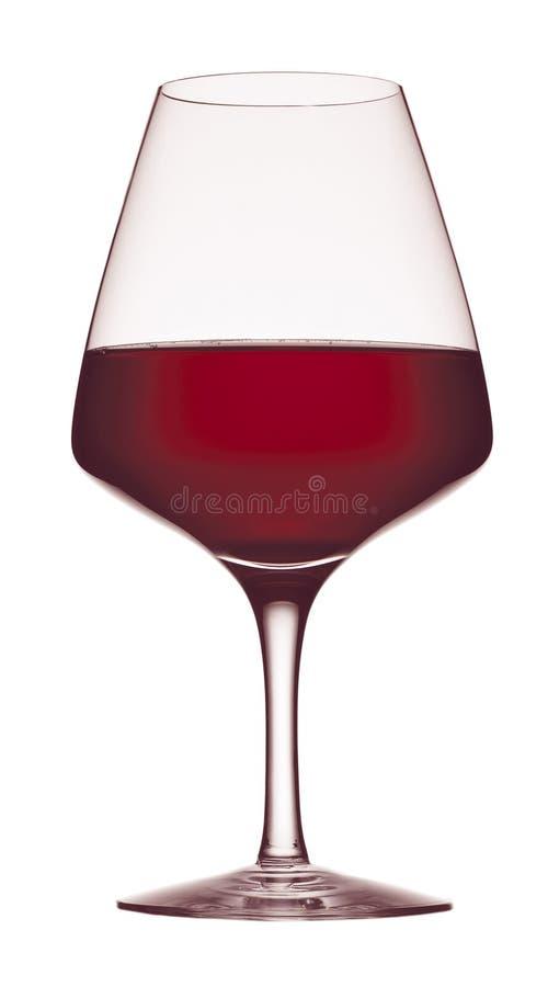 Glass of wine. Isolated on white background stock illustration