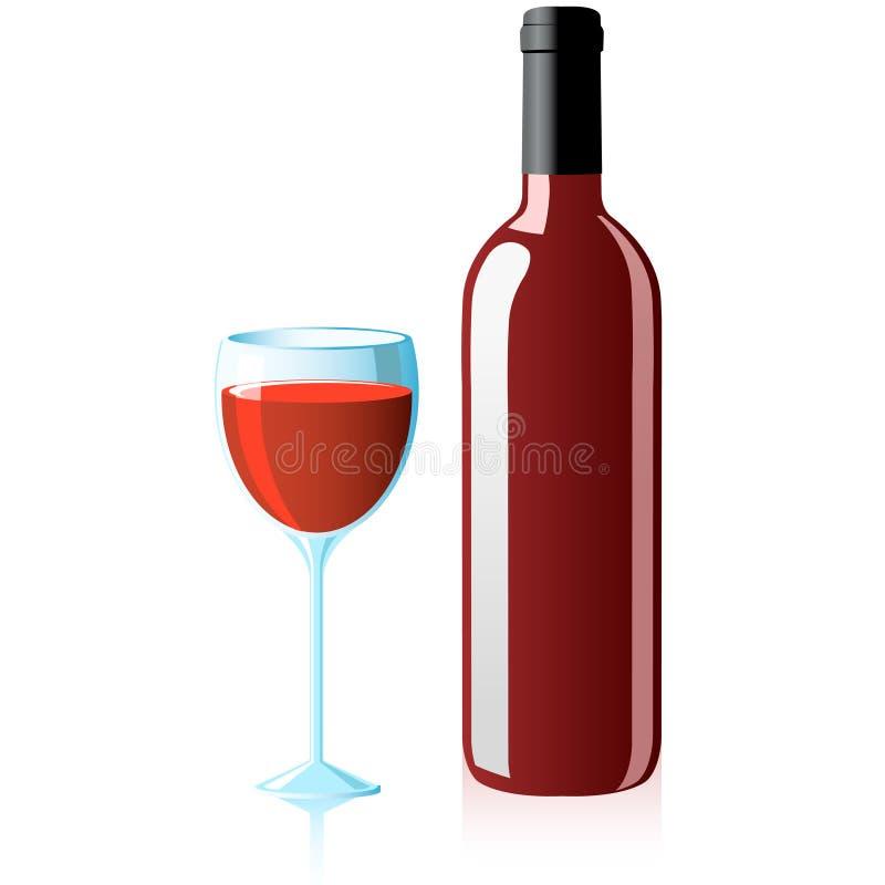 glass wine royaltyfri illustrationer