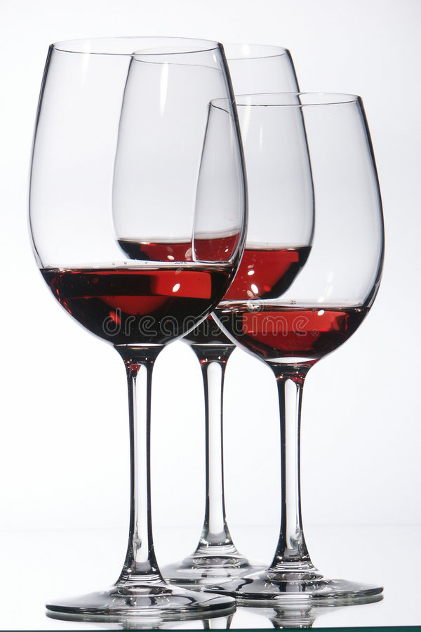 Glass of Wine. On white Background stock photos