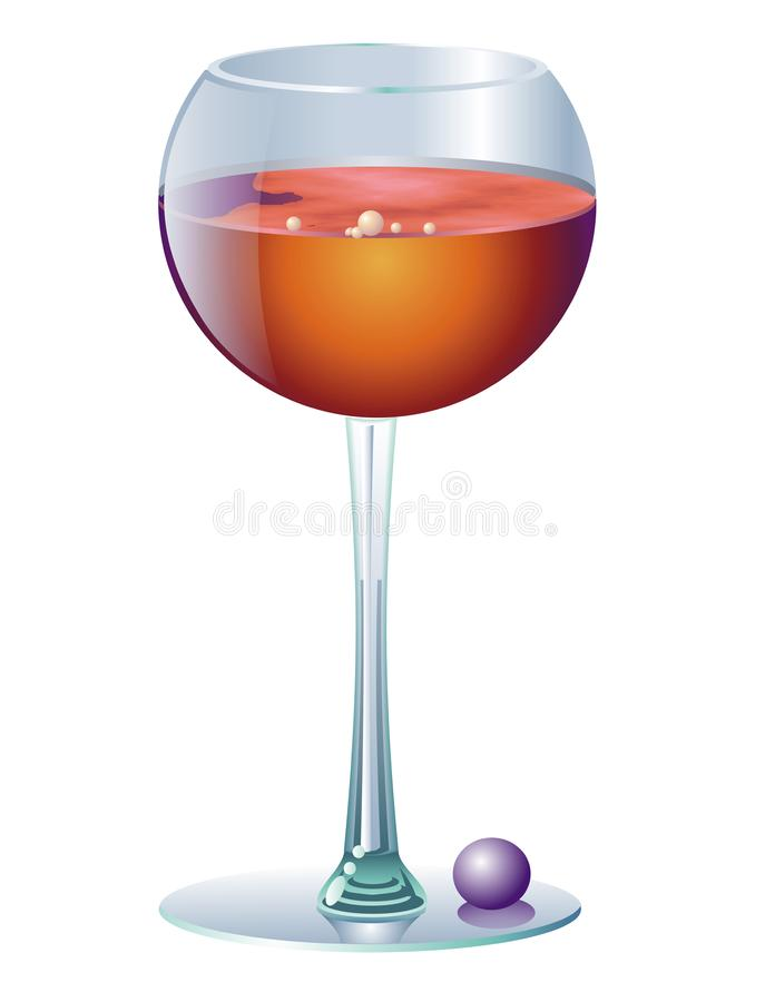 Download Glass of wine stock illustration. Image of wine, glass - 7703554