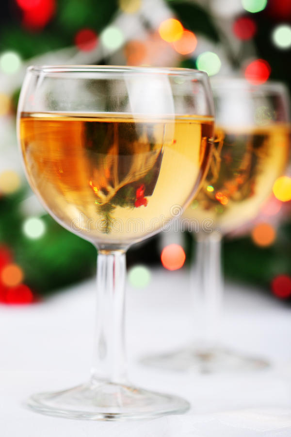 Download Glass Of Wine And Blurred Christmas Lights Stock Image - Image: 16739613