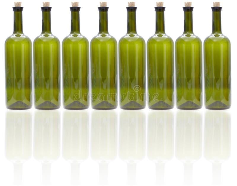 Glass wine bottles royalty free stock photos