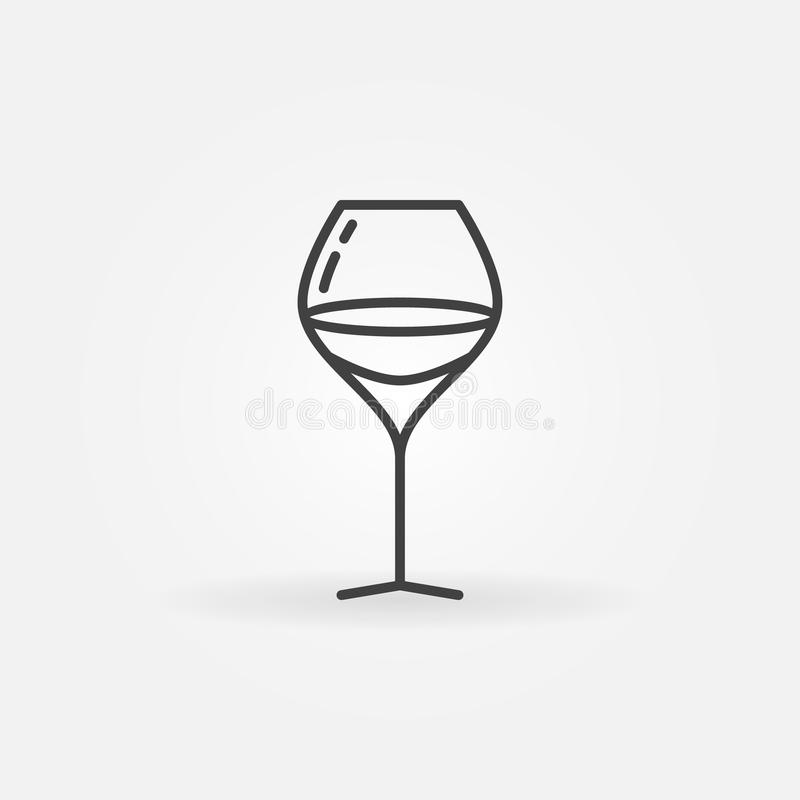 Glass of wine linear icon stock illustration