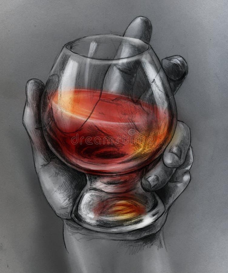 Glass of wine vector illustration