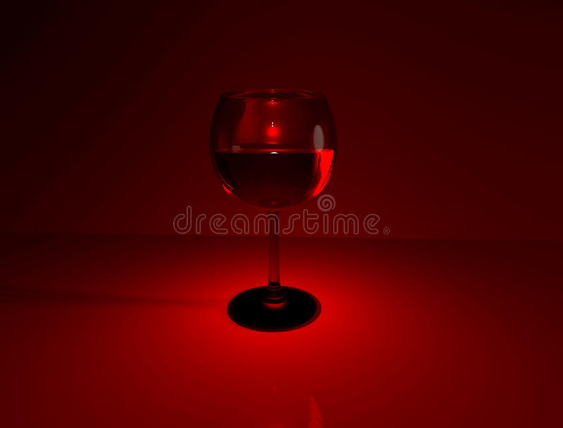 Download Glass of wine on red stock photo. Image of crimson, love - 12446686