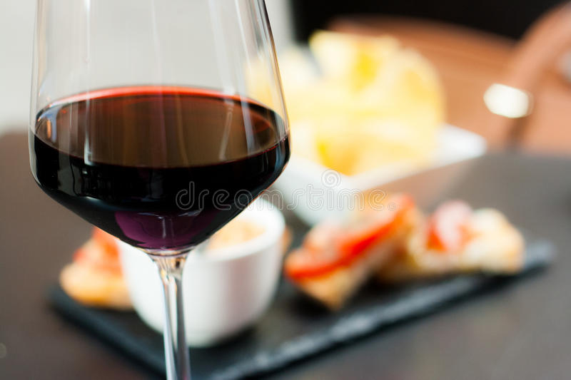 Glass of wine stock photography
