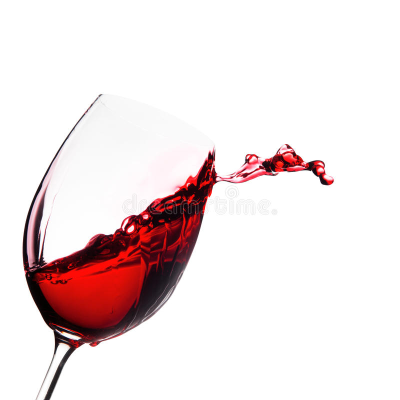 Glass Of Wine With Splash Stock Photo Image Of Cool