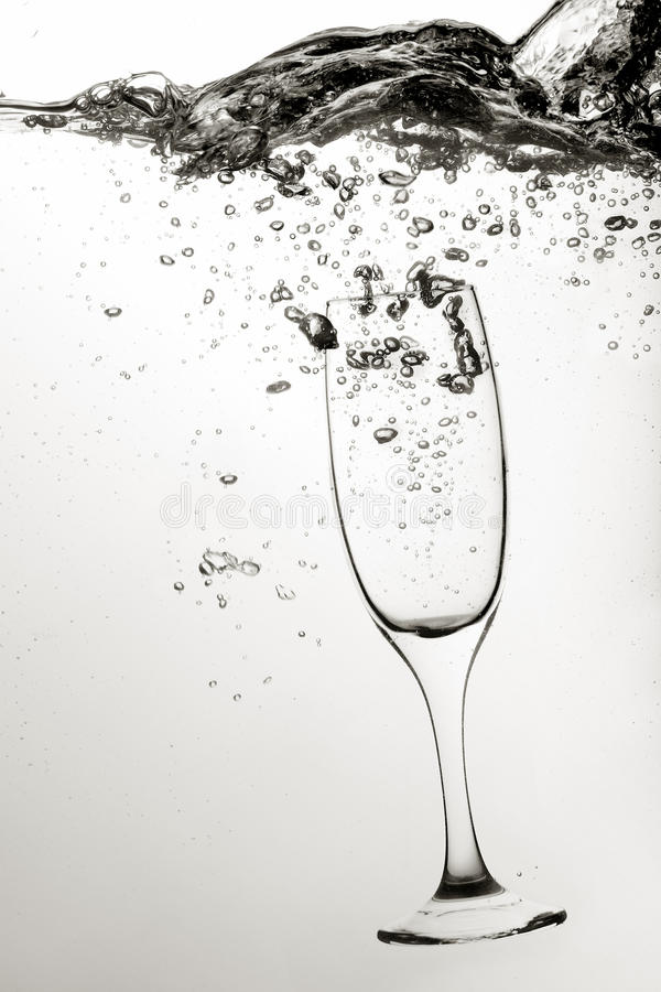 Download Glass of wine in water stock image. Image of profile - 23884511