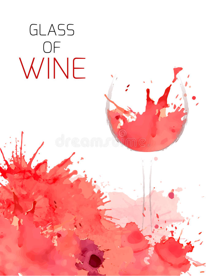 Glass of wine royalty free illustration