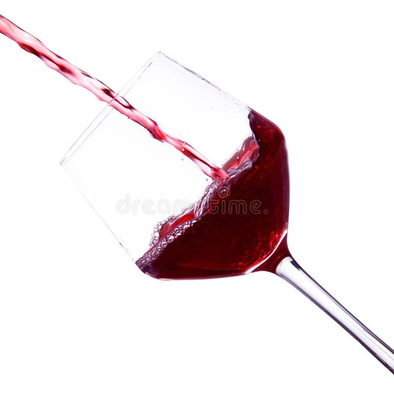 Glass of wine in white background royalty free stock photo