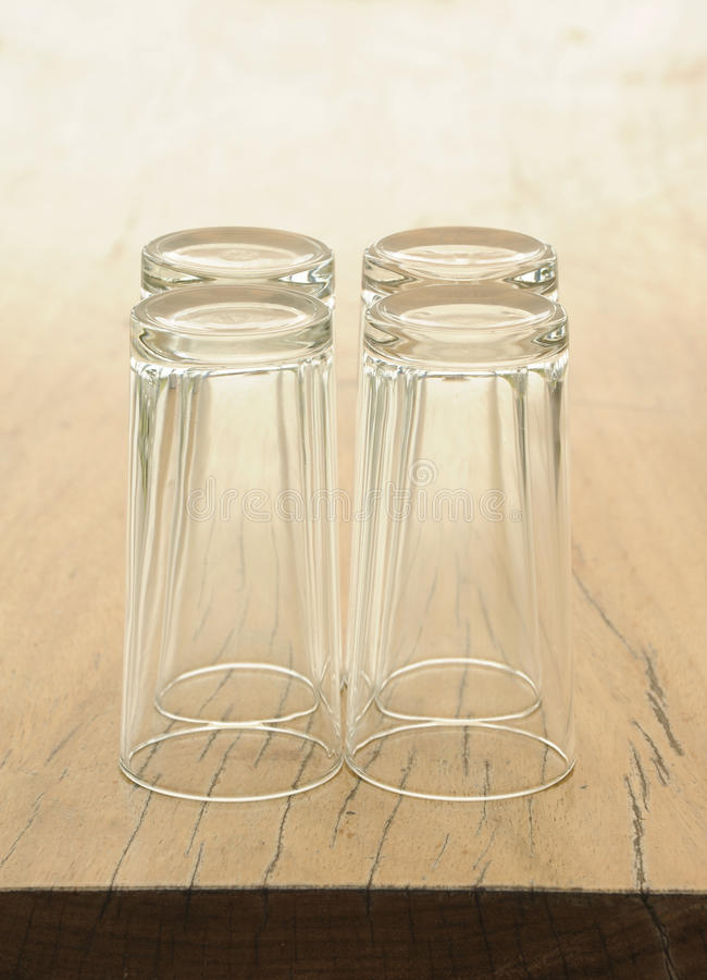 Download Glass On Wooden Table Stock Image - Image: 18435341