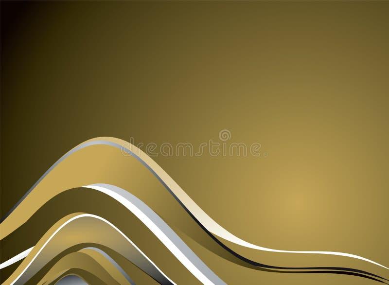 Glassa dorata illustrazione di stock