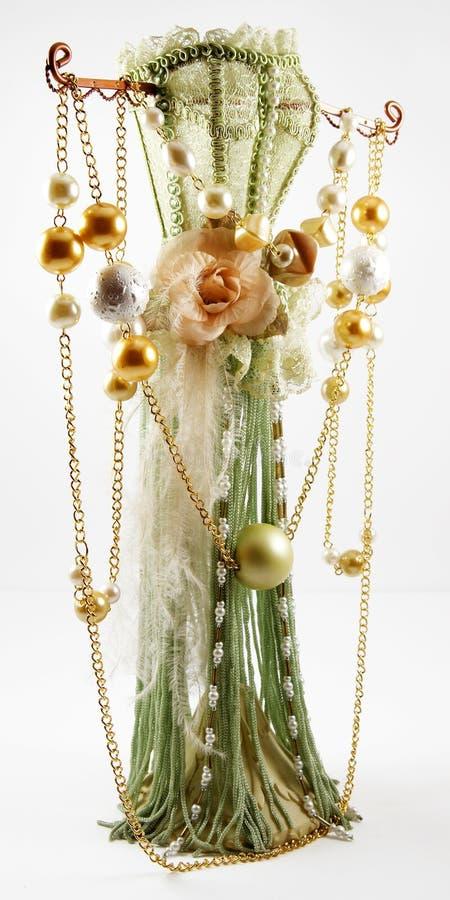 Glassbeads que pendura no mannequin especial fotografia de stock
