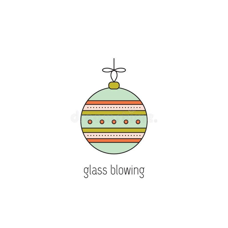 Glassblowing linii ikona ilustracji