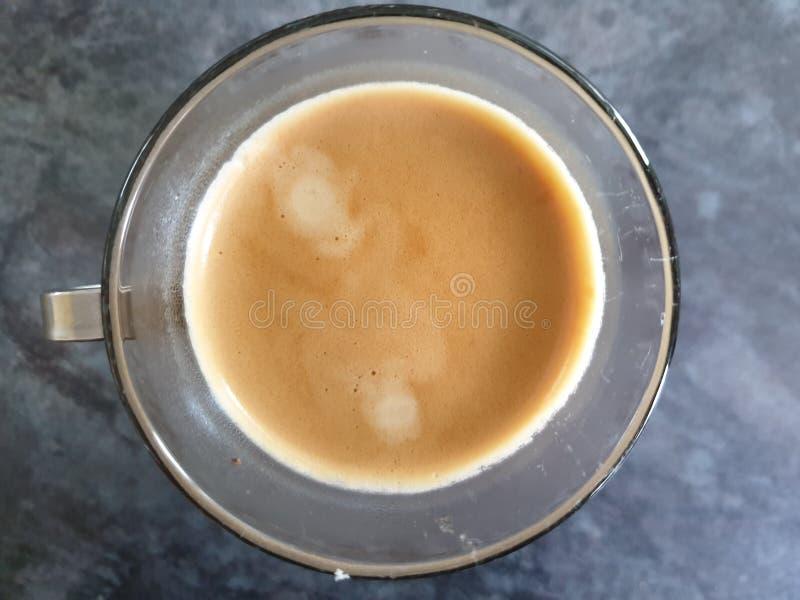 Glasschale Espresso stockfoto