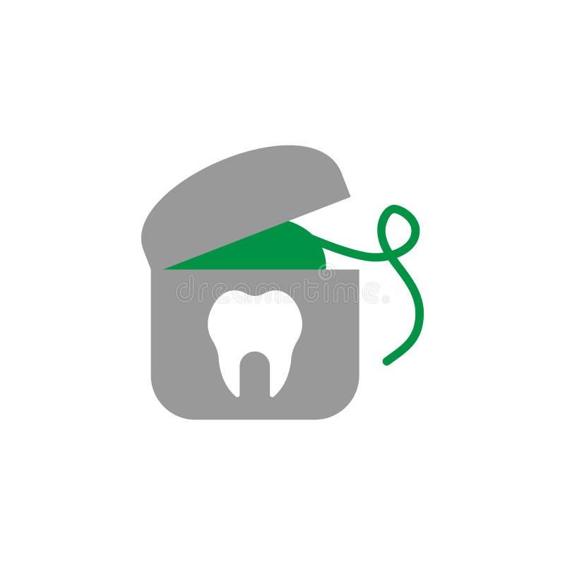 Glasschlacke und zahnmedizinische Ikone r Ausführliche Glasschlacke und zahnmedizinische Ikone können für benutzt werden stock abbildung