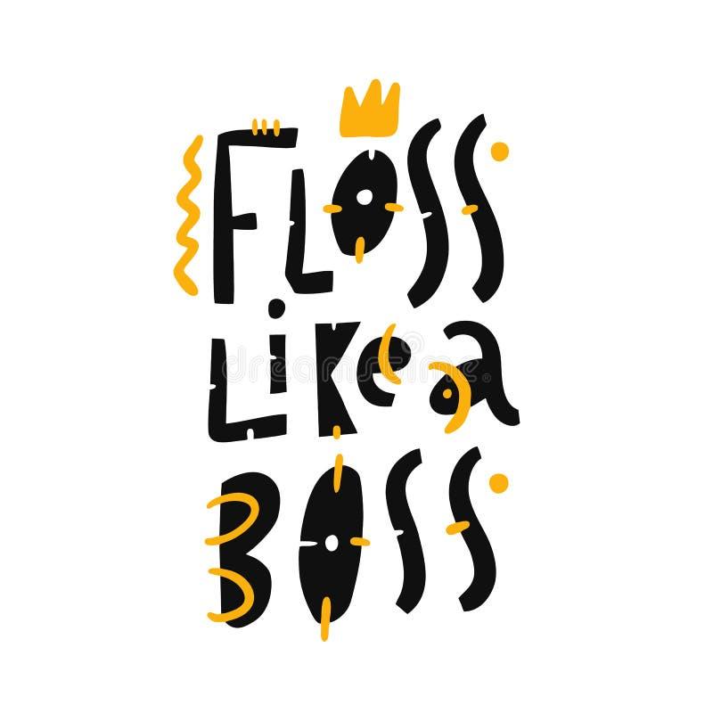 Glasschlacke wie eine Chefhandgezogene Vektor-Beschriftungsphrase Moderne Typografie Getrennt auf weißem Hintergrund stock abbildung