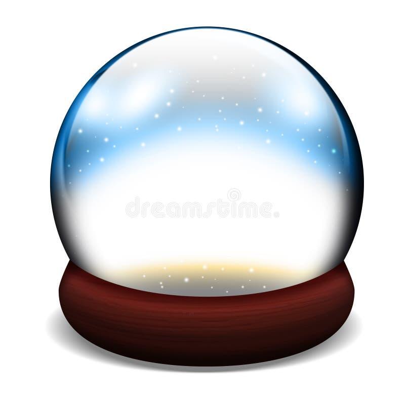 Glasschneehaubekugel lizenzfreie abbildung