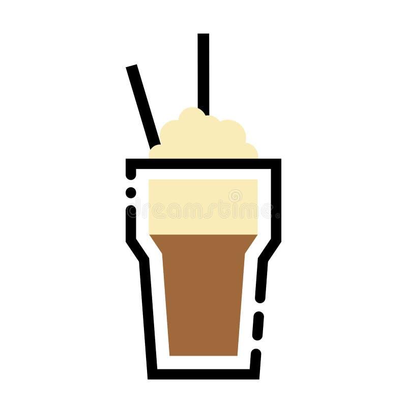 Download Glasse De Illustratie Van De De Lijnkunst Van De Koffiekop De Kop Van Het Lijnpictogram Vector Illustratie - Illustratie bestaande uit art, java: 107700616
