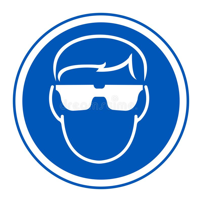 Glassed för symbolklädersäkerhet isolat på vit bakgrund, vektorillustration EPS 10 vektor illustrationer